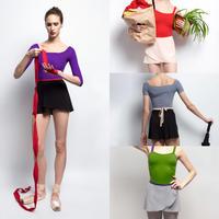 [Zidans] Wrap chiffon skirt with contrast ribbon・S丈