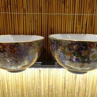 真山窯夫婦飯碗(花詰大)