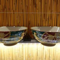 美山窯夫婦飯碗(金花玉椿小)