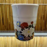 フリーカップ花詰 仙春窯ブラック
