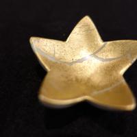 箸置き(星型金箔彩黒)