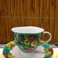 カップ&ソーサー(緑椿)