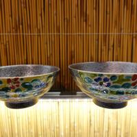 珠峰窯夫婦飯碗(半掛花紋小)