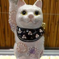 4G招き猫(花紫右手)