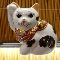 4G横向き招き猫(三毛右手)