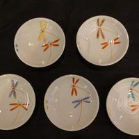 小皿揃え(丸型とんぼ5色)