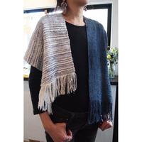 Yarn dyed × overdyed『kibiso』poncho(short)