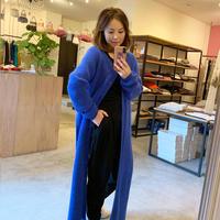 【mieyamieya ミエヤミエヤ】2way knit  (2ウエイニット)blue/beige