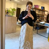 【Greed International】Feather Jaquard skirt