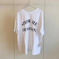 【siro de labonte シロ】 SHOW ME DEVOTION 2way tee -white-R113224
