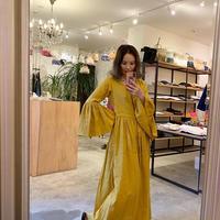 【Come StAi!】リネンローブ2wayドレス  -サンフランイエロー