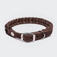 【Cloud7/クラウド7】DOG Collar Central Park (レザーカラー)Lサイズ-Brown