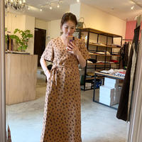 【Bed&BREAKFAST ベッド&ブレイクファースト】Summer Fower Jacquard Onepiece  -beige