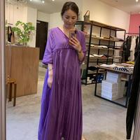 【mieyamieya ミエヤミエヤ】cotton onepiece (コットンワンピース)purple