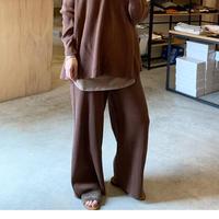 【siro シロ】cotton knit pants (コットンニットパンツ)brown/beige/black