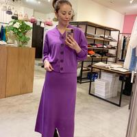 【Banner Barrett バナーバレット】knit skirt  (ニットスカート) purple/black