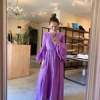 【mieyamieya  ミエヤミエヤ】リネンローブ2wayドレス