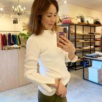 【Traditional Wetherwear/トラディッショナルウェザーウエア】mockneck rib pull over  (モックネックリブルオーバー)white/black