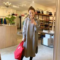 【siro シロ】long sweat hoodie (ロングスウェットフーディー)black/grey