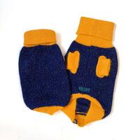【HAINU ハイヌ】ANGORA×GLITTER SWEATER  (セーター)NAVY/YELLOW XS/Sサイズ