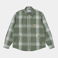 【Carhartt WIP /カーハートウィップ】CAHILL SHIRT JAC (シャツジャケット) I028-801 Cahill ChD Green