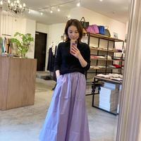 【siro シロ】stretch broad skirt (ストレッチブロードスカート) lavender/blue/brown