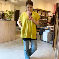 【siro シロ】Hightwist cotton big vest  (ハイツイストコットンビッグベスト) rime green/lavender/black
