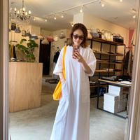 【Bed&Breakfast ベッド&ブレイクファースト】Diorama Hard Jersey Onepiece(ディオラマハードジャージーワンピース) White/Black