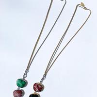 【Bijou/ビジュ】Marble Stone Necklace (マーベルストーンネックレス)green/brown