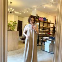 【siroシロ】no sleeve onepiece(ノースリーブワンピース)beige/brown