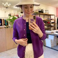 【mieyamieya ミエヤミエヤ】cashmere knit cardigan (カシミヤニットカーディガン)purple/beige/black