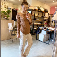 【Bed&Breakfast ベッド&ブレイクファースト】Floral Stretch Lace Pants (フローラルストレッチレースパンツ) Ivory
