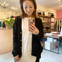 【siro シロ】cotton knit cardigan(コットンニットカーディガン) ivory/grey/beige/greem/black