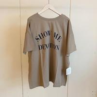 【siro de labonte シロ】 SHOW ME DEVOTION 2way tee -beige-R113224