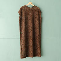 【Bed&Breakfast】lace onepiece(quan exclusive) brown