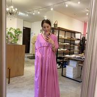 【mieyamieya ミエヤミエヤ】cotton onepiece (コットンワンピース)pink