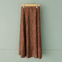 【Bed&Breakfast】lace skirt(quan exclusive) brown