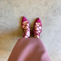 【Bed&BREAKFAST ベッド&ブレイクファースト】LACEUP SANDALS-pink