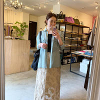 【Greed Internationalグリードインターナショナル】Feather Jaquard skirt(フェザージャガードスカート)