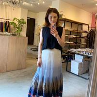【Greed International グリードインターナショナル】Gradation Jacgurad Skirt -white