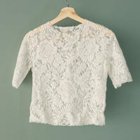 【Bed&Breakfast】lace tops (quan exclusive) white