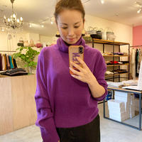 【mieyamieya ミエヤミエヤ】cashmere knit turtle (カシミヤニットタートル)  moka/purple/pink/black
