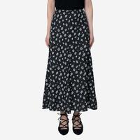 【Bed&BREAKFAST ベッド&ブレイクファースト】Summer Fower Jacquard Skirt  -black