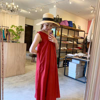 【CLOCHE クロシェ】cotton onepiece (コットンワンピース) red/yellow/lavender/green