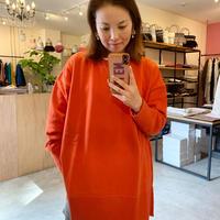 【siro シロ】big silhouette sweat  (ビッグシルエットスウェット)orange/grey/white/black