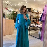 【Come StAi!】 リネンローブ2wayドレス  -カリブグリーン