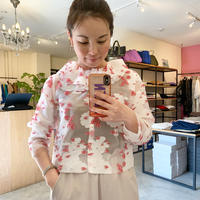 【Greed International グリードインターナショナル】PEONY JACQUARD frill blouse (ピオニージャガードフリルブラウス)