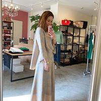 【Greed internationalグリードインターナショナル】Coral Jacquard Wrap Skirt
