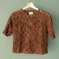 【Bed&Breakfast】lace tops (quan exclusive) brown
