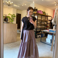 【CLOCHE クロシェ】cotton skirt(コットンスカート)beige/black/lavender /red